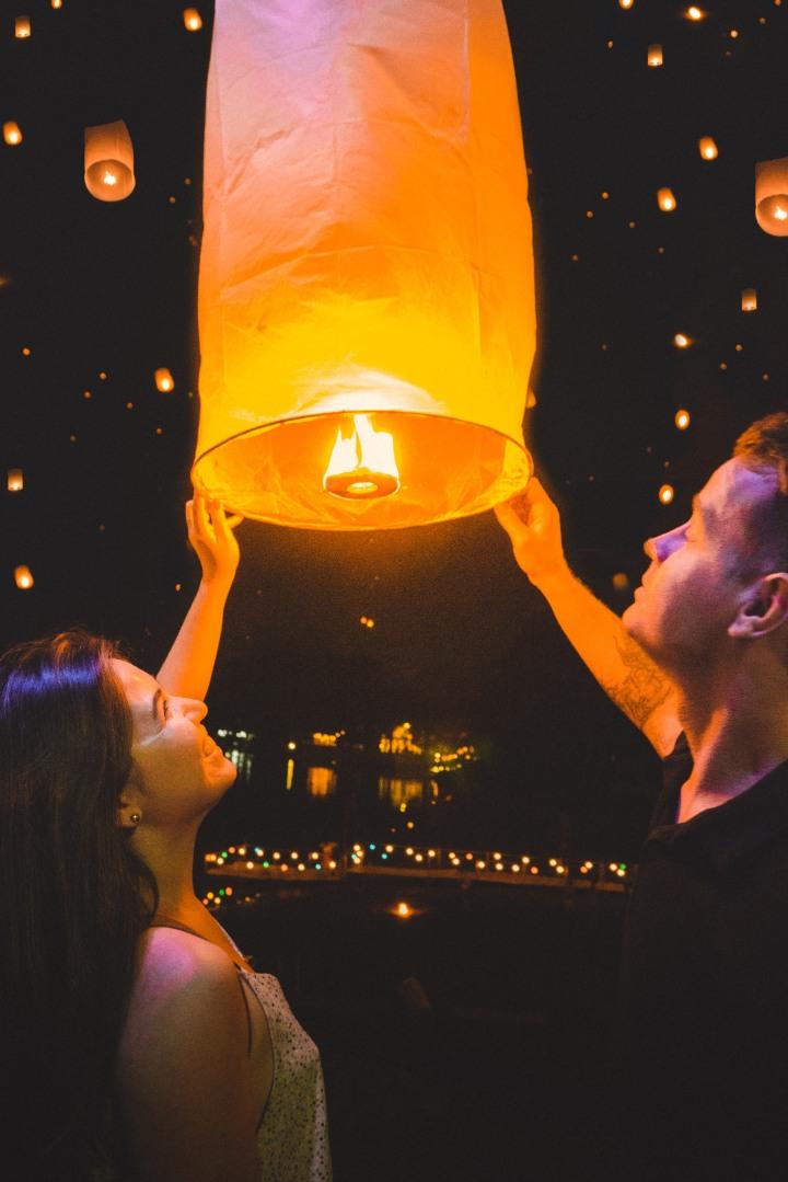 kurt and I lantern