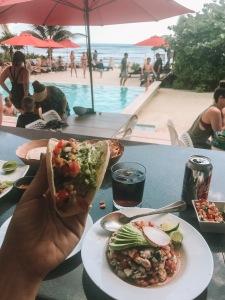 jungle fish beach club food