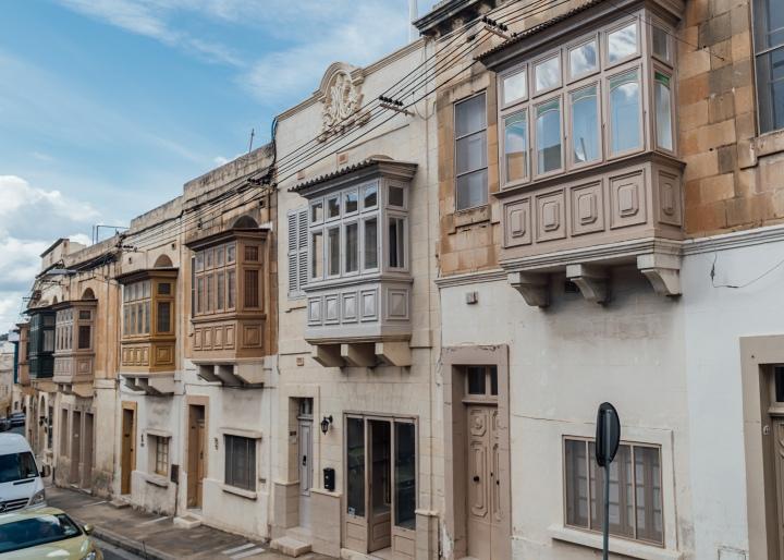 wooden balconies architecture gozo valletta malta